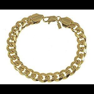 Jewelry - UNISEX 18KGL Gold Cuban Curb Chain Bracelet!